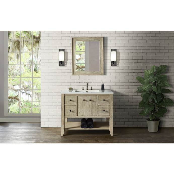 "Fairmont Designs River View 42"" Open Shelf Vanity for Integrated Top - Toasted Almond 1515-VH42-"