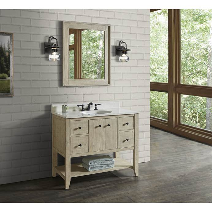 "Fairmont Designs River View 42"" Open Shelf Vanity for Undermount Oval Top - Toasted Almond 1515-VH42_"