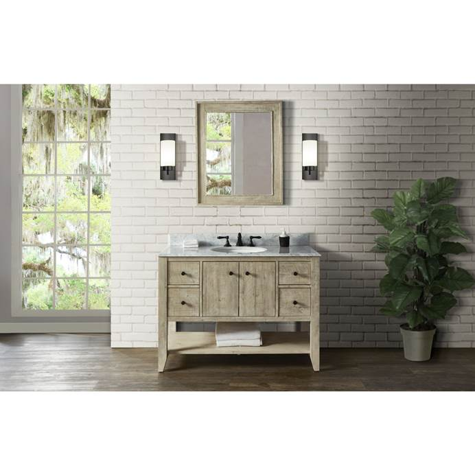 "Fairmont Designs River View 48"" Open Shelf Vanity for Undermount Oval Top - Toasted Almond 1515-VH48_"