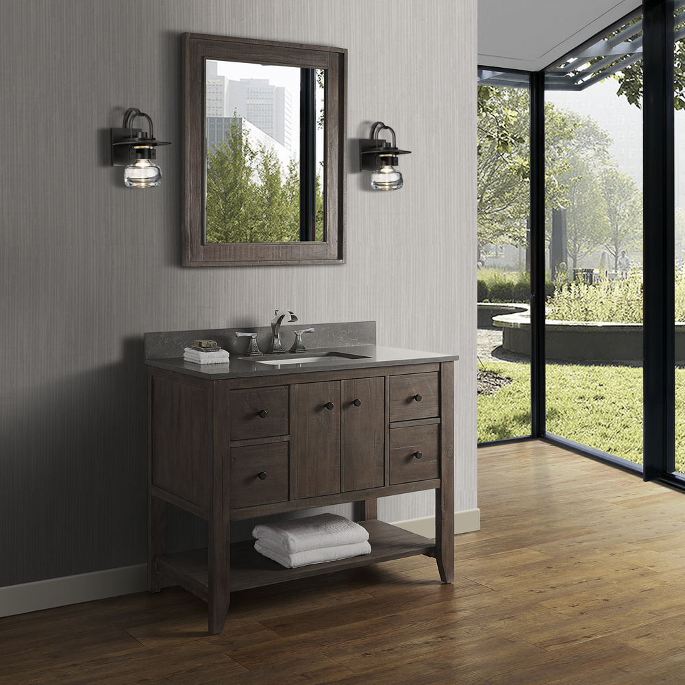 Fairmont Designs River View 42 Quot Open Shelf Vanity Coffee