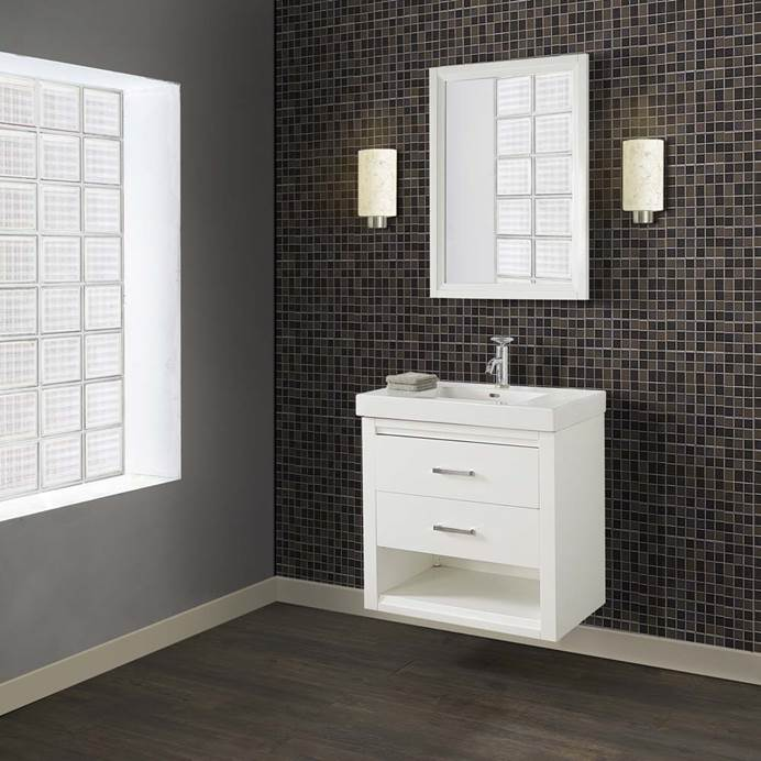 "Fairmont Designs Studio One 30x18"" Wall Mount Vanity - Glossy White 1517-WV3018"