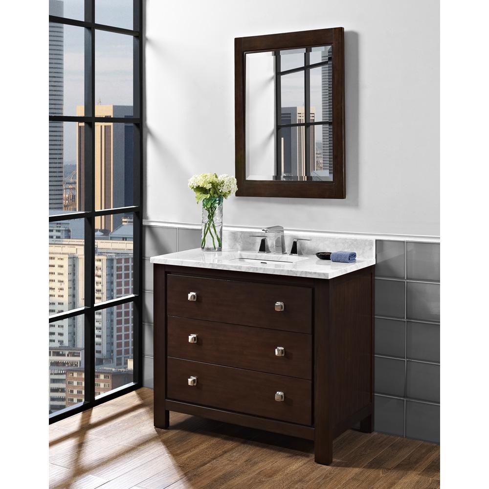 Fairmont designs uptown 42 vanity espresso free for Espresso vanity bathroom ideas