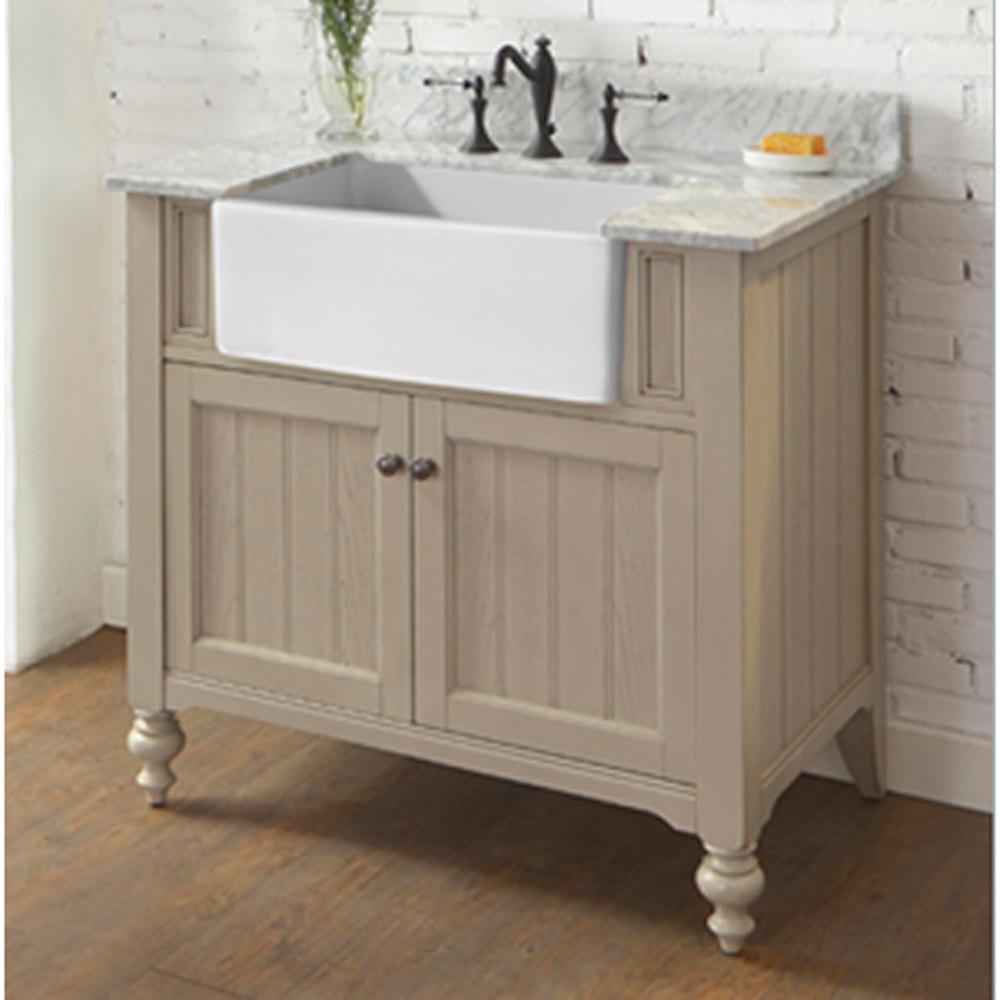 "Slate Bathroom Modern Bathrooms And Rustic: Fairmont Designs Crosswinds 36"" Farmhouse Vanity - Slate Gray"