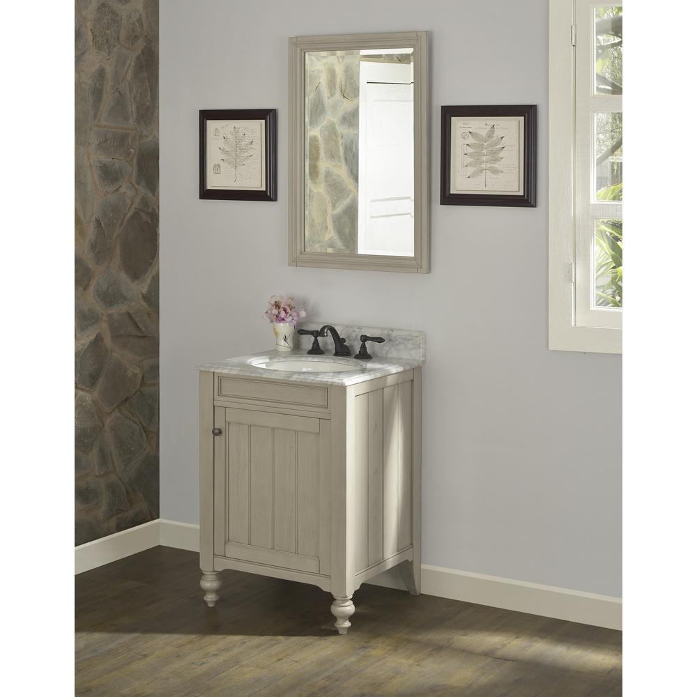 "Slate Grey Bathroom Cabinets: Fairmont Designs Crosswinds 24"" Vanity - Slate Gray"