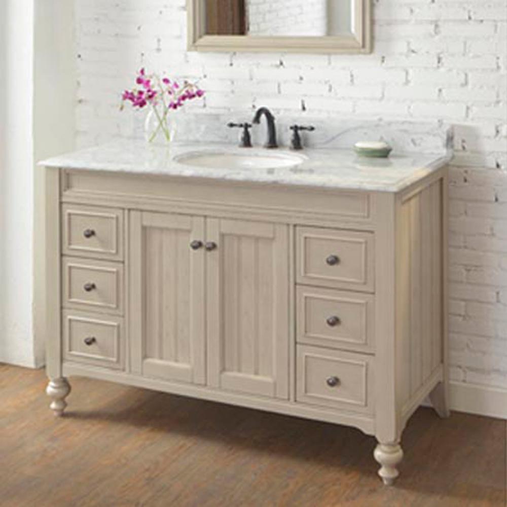 "Slate Grey Bathroom Cabinets: Fairmont Designs Crosswinds 48"" Vanity - Slate Gray"