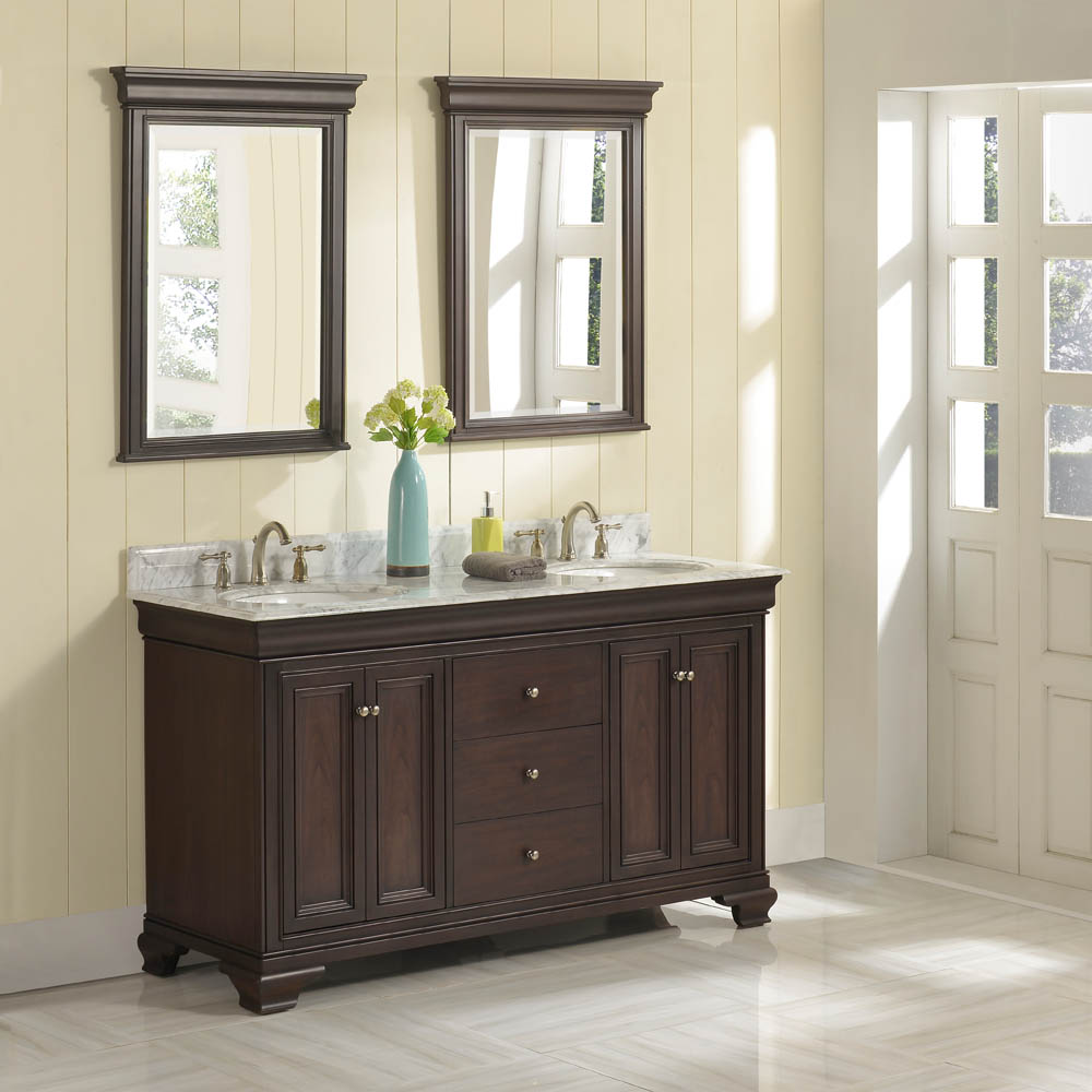 Fairmont Designs Providence 60 Double Bowl Vanity Aged Chocolate Free Shipping Modern