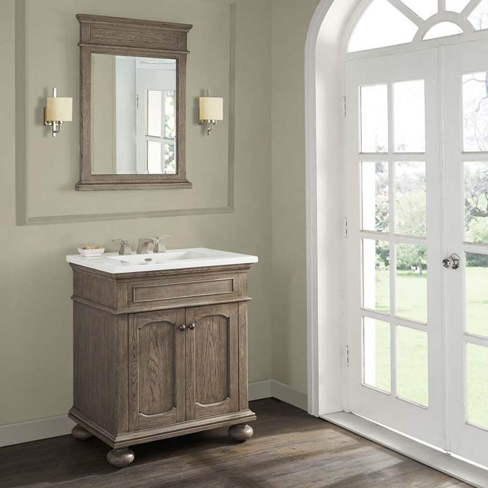 "Fairmont Designs Oakhurst 30"" Vanity for Integrated Top - Antique Grey 1535-V30-"