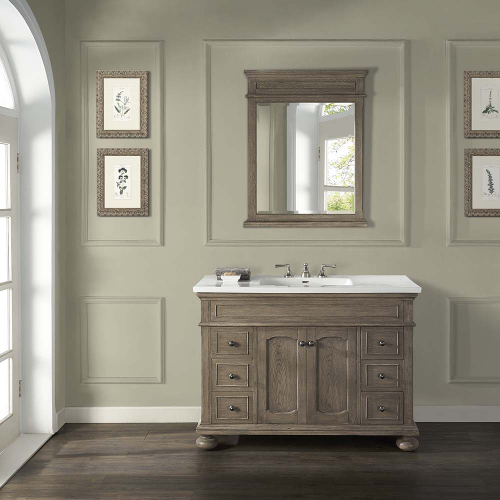 "Fairmont Designs Oakhurst 48"" Vanity For Integrated Top - Antique Grey"