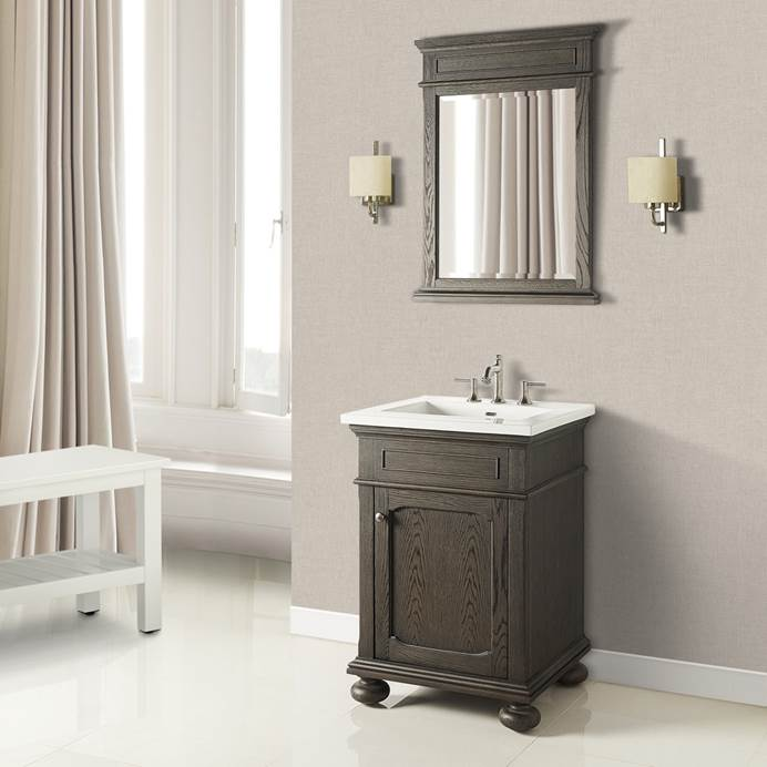 "Fairmont Designs Oakhurst 24"" Vanity for Integrated Top - Burnt Chocolate 1536-V24-"