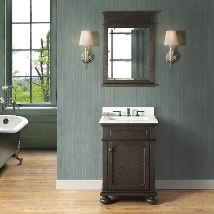 "Fairmont Designs Oakhurst 24"" Vanity - Burnt Chocolate 1536-V24"
