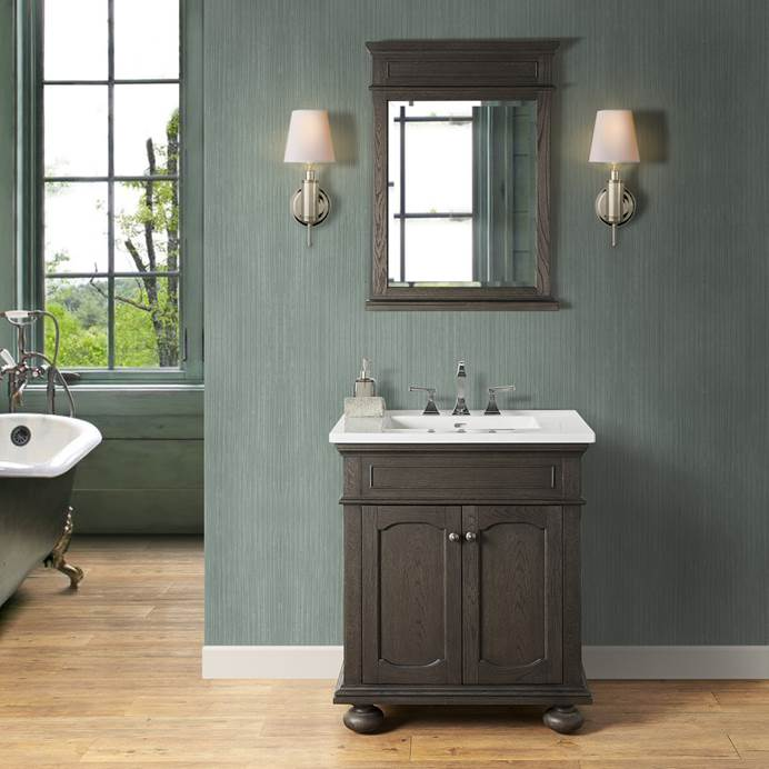 "Fairmont Designs Oakhurst 30"" Vanity for Integrated Top - Burnt Chocolate 1536-V30-"