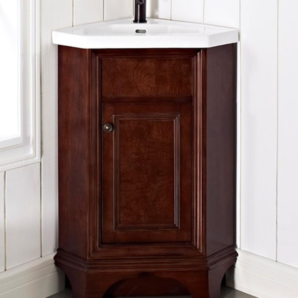 Fairmont Designs Newhaven 26 Quot Corner Vanity And Sink Set Nutmeg Free Shipping Modern Bathroom
