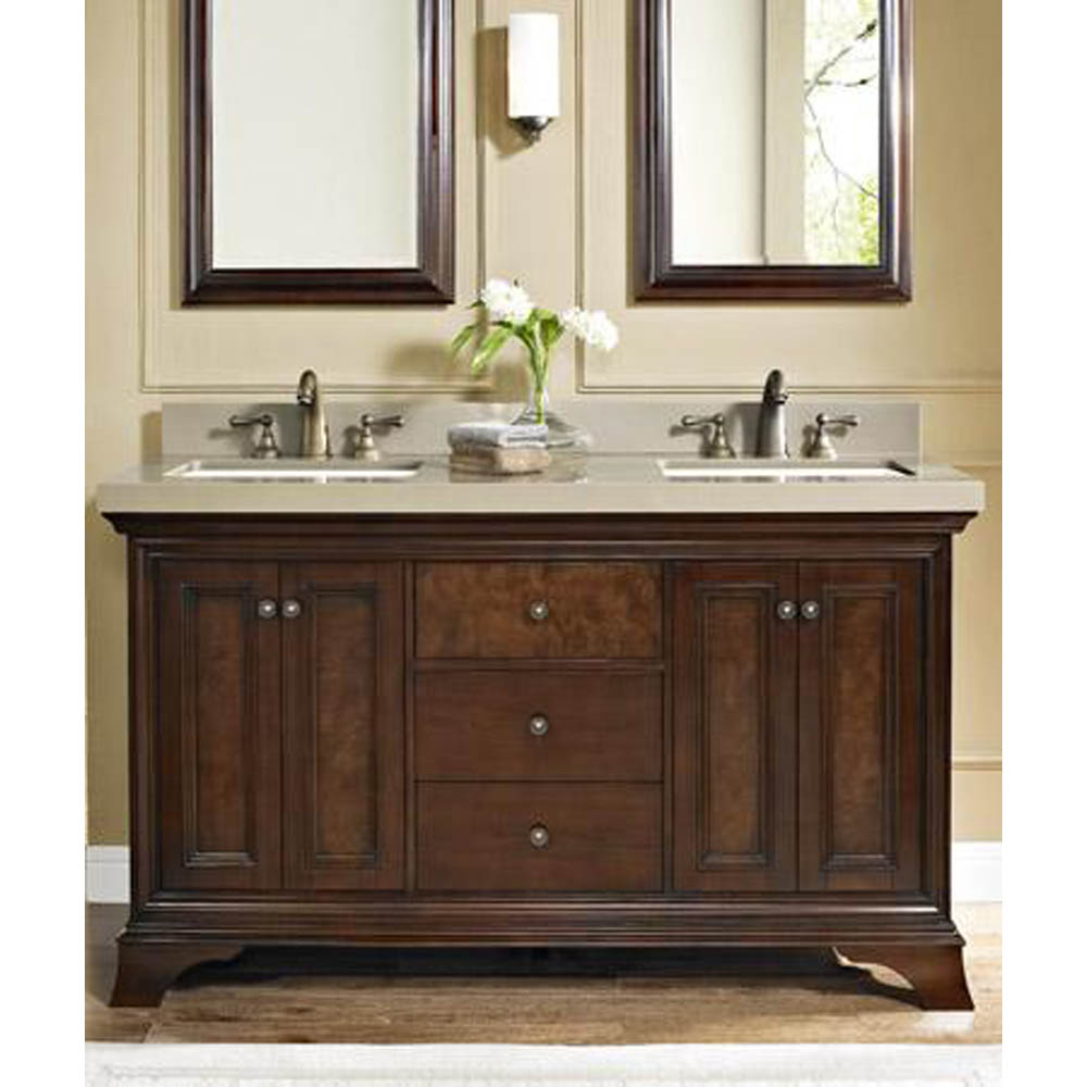 Fairmont Designs Newhaven 60 Quot Double Bowl Vanity Nutmeg Free Shipping Modern Bathroom