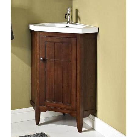 Fairmont Designs Prairie 26 Corner Vanity Sink Set Cognac Free Shipping Modern Bathroom
