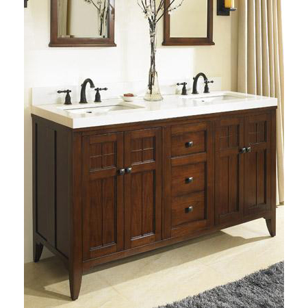 Fairmont Designs Prairie 60 Double Bowl Vanity Cognac Free Shipping Modern Bathroom