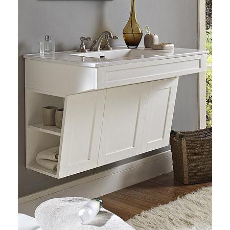 "fairmont designs shaker 36"" wall mount ada vanity - polar"