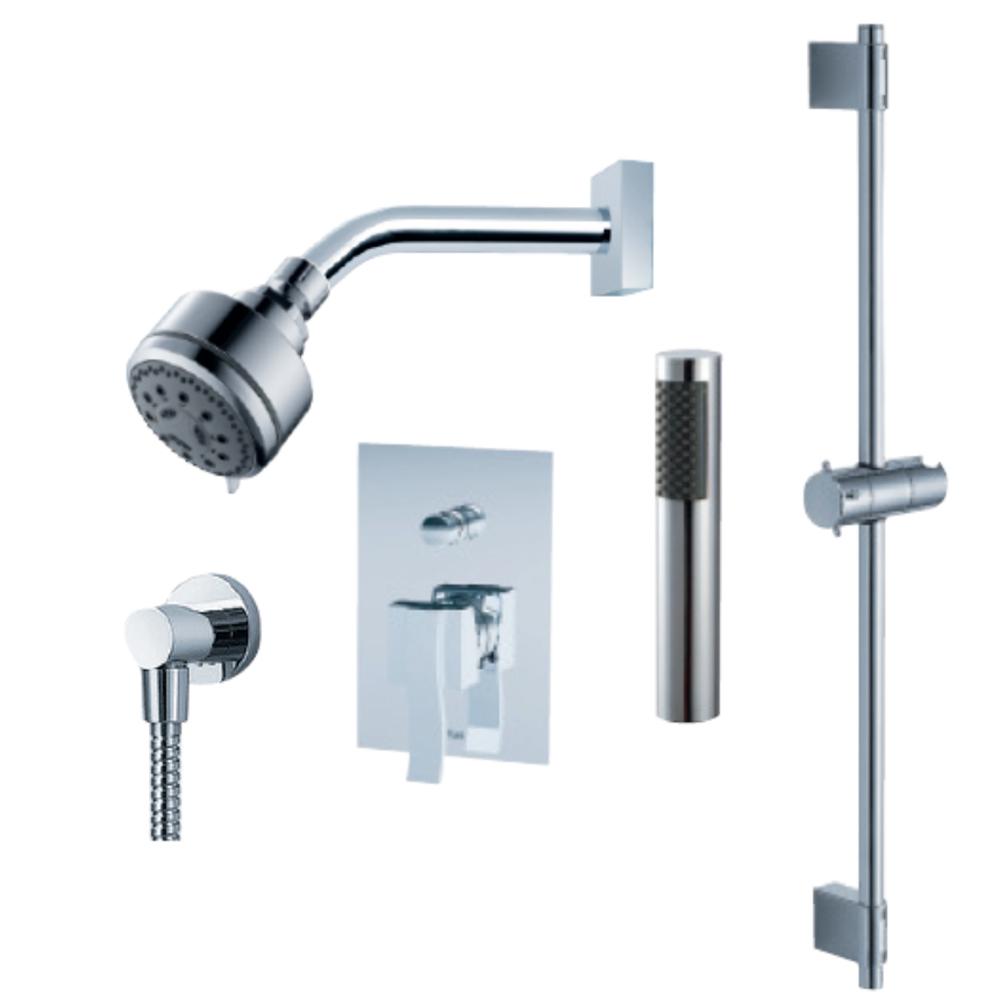 fluid viola handheld shower trim set with slide bar free shipping modern bathroom. Black Bedroom Furniture Sets. Home Design Ideas