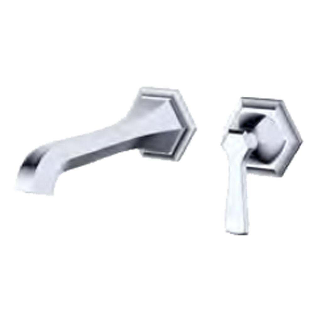 fluid Symmetry, Single Lever Wall Mounted Faucet Trim F17008T- by fluid
