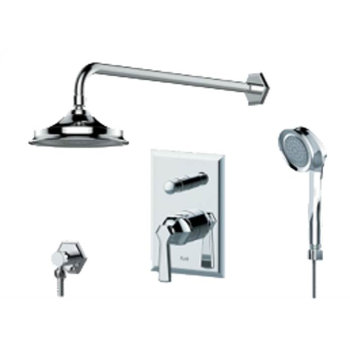 fluid Symmetry Pressure Balancing Shower Set with Handheld Trim Package F1741T-