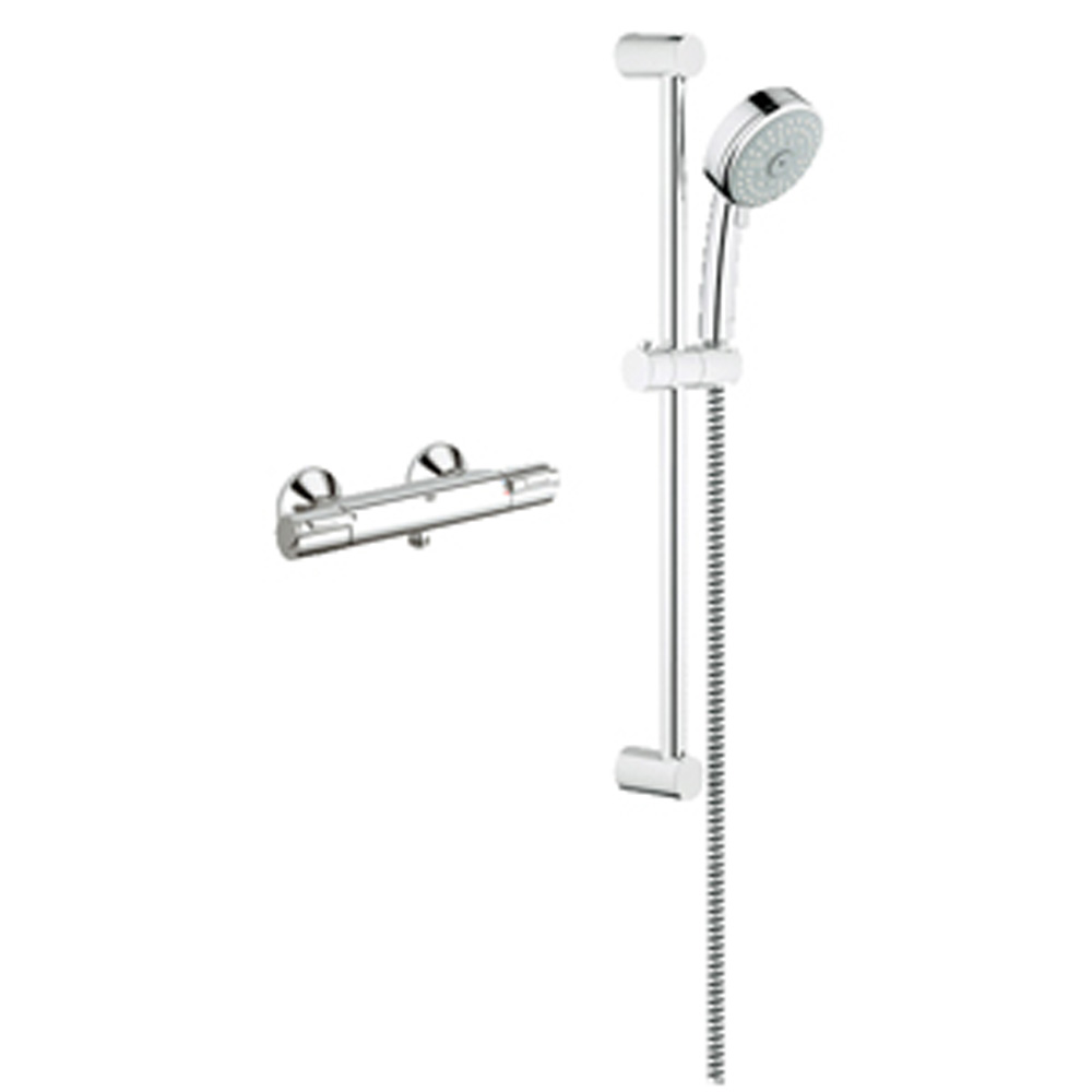 grohe exposed thm single function shower kit chrome. Black Bedroom Furniture Sets. Home Design Ideas