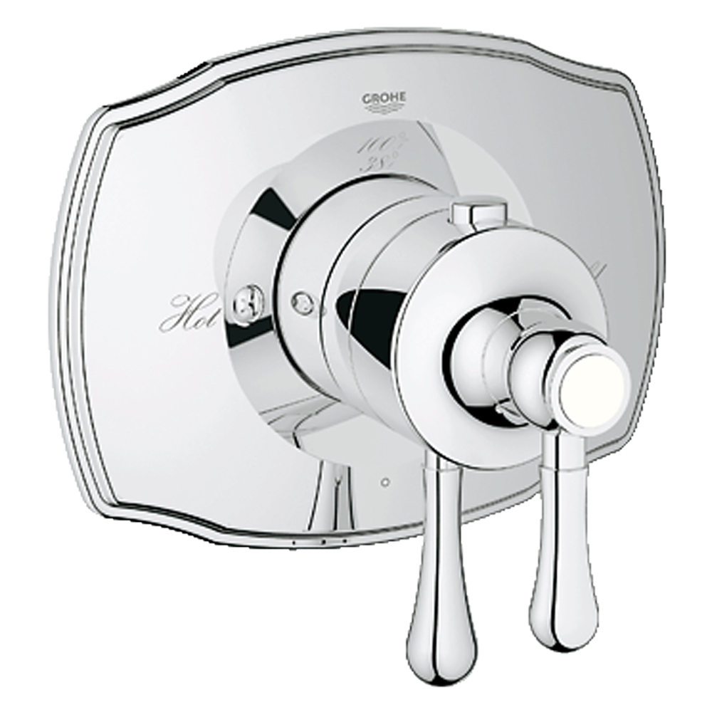 Grohe GrohFlex Single Function Thermostatic Trim with Control Module, Starlight Chrome GRO 19822000 by GROHE