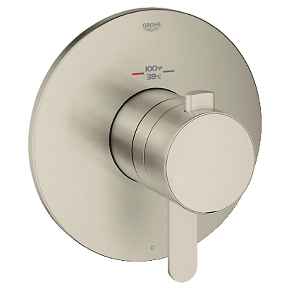 Grohe Europlus Single Function Thermostatic Trim with Control Module, Brushed Nickel GRO 19869EN0 by GROHE