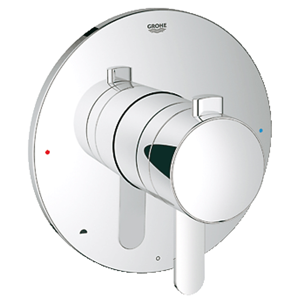 Grohe Europlus Dual Function Pressure Balance Trim with Control Module, Starlight Chrome GRO 19881000 by GROHE