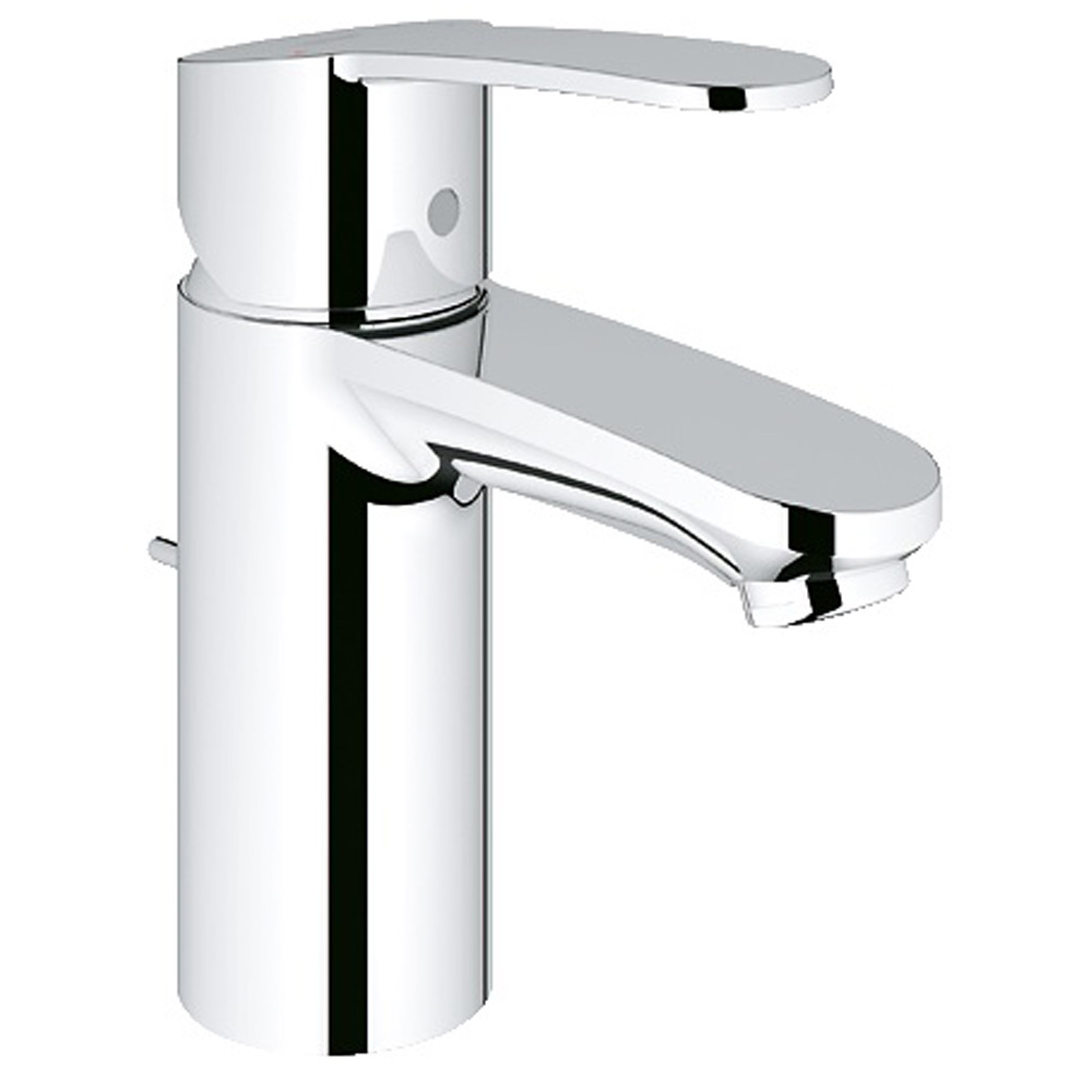 Grohe Eurostyle Cosmopolitan Lavatory Single-hole Centerset S-Size with Pop-up Waste, Starlight Chrome GRO 23036002 by GROHE
