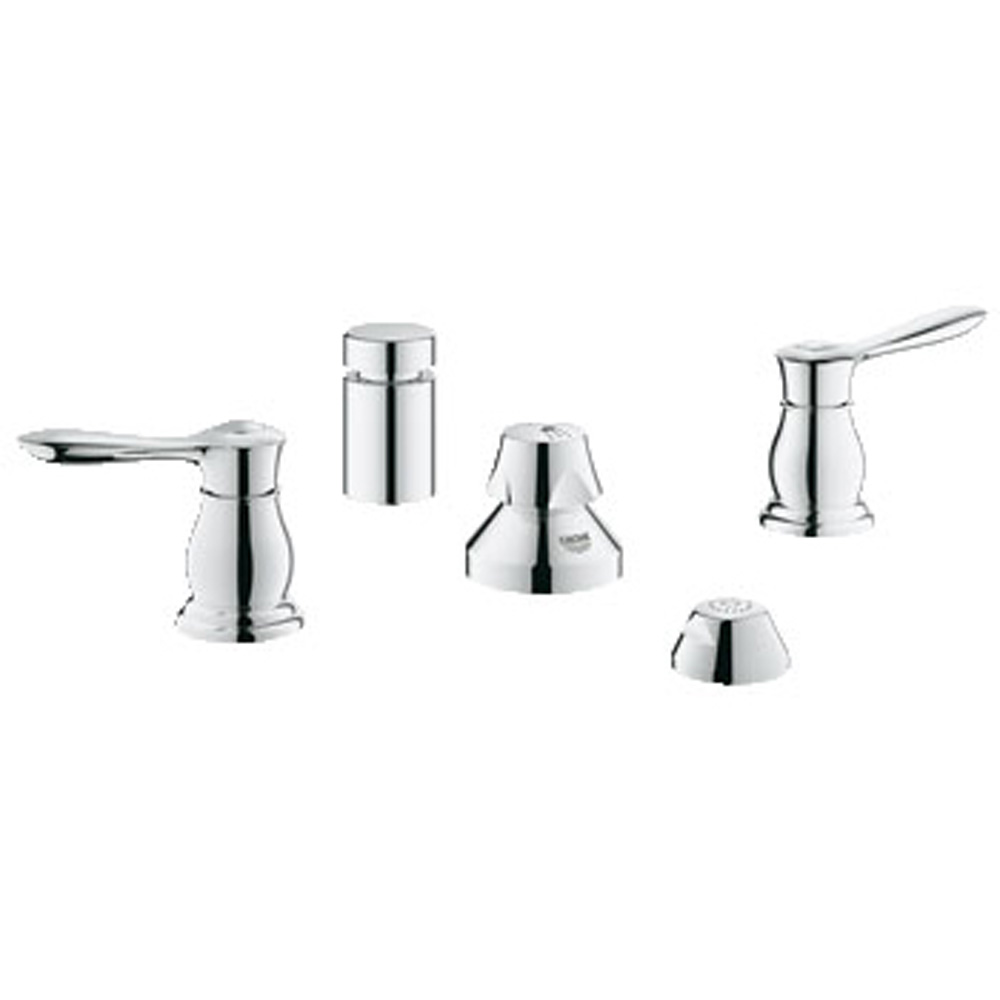 Grohe Parkfield 2-Handle Bidet Wideset, Starlight Chrome GRO 24033000 by GROHE