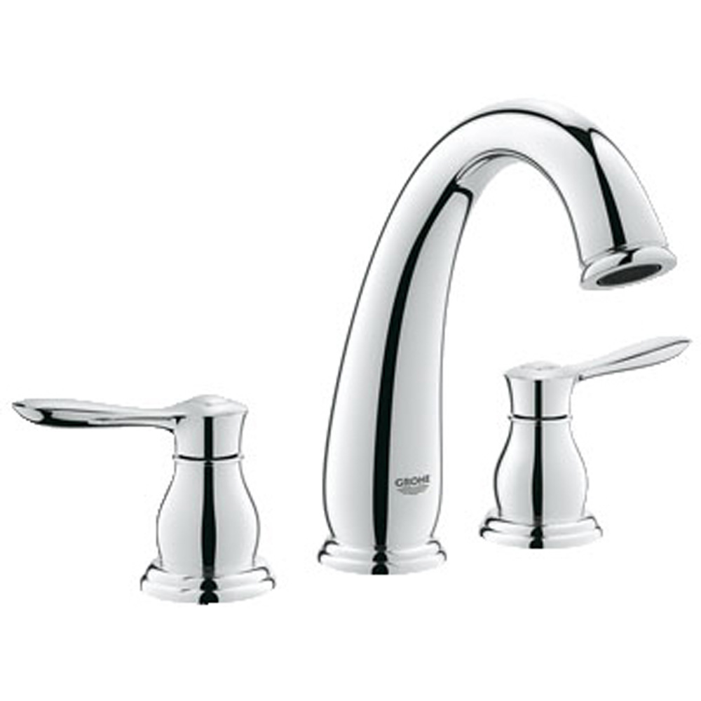 grohe parkfield 3 tub faucet starlight chome