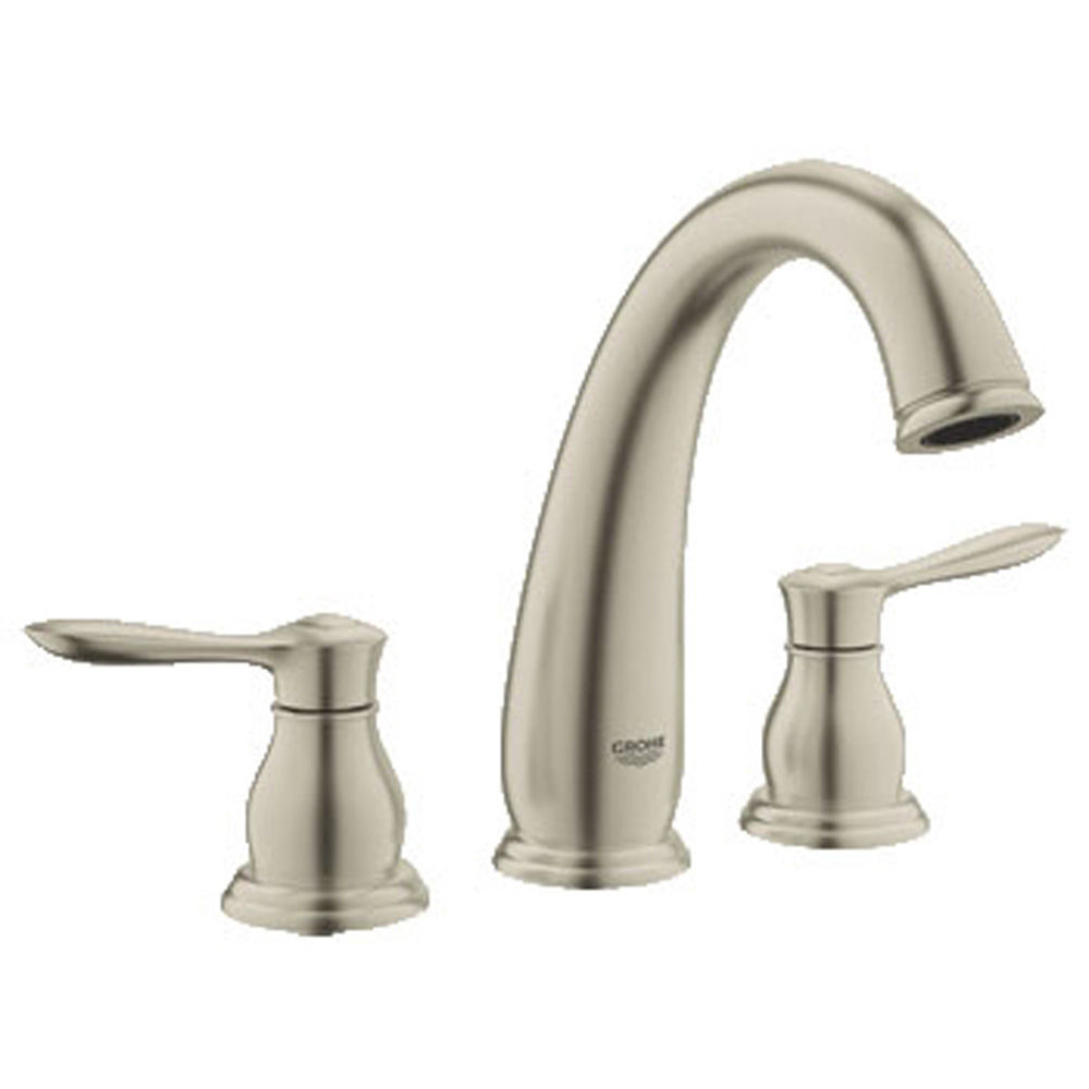 Grohe Parkfield 3-Hole Roman Tub Faucet, Brushed Nickel GRO 25152EN0 by GROHE