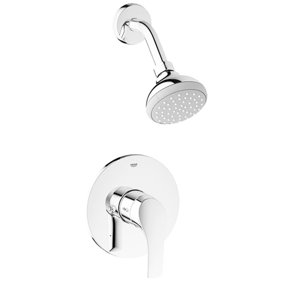 grohe eurosmart pressure balance valve shower combination. Black Bedroom Furniture Sets. Home Design Ideas