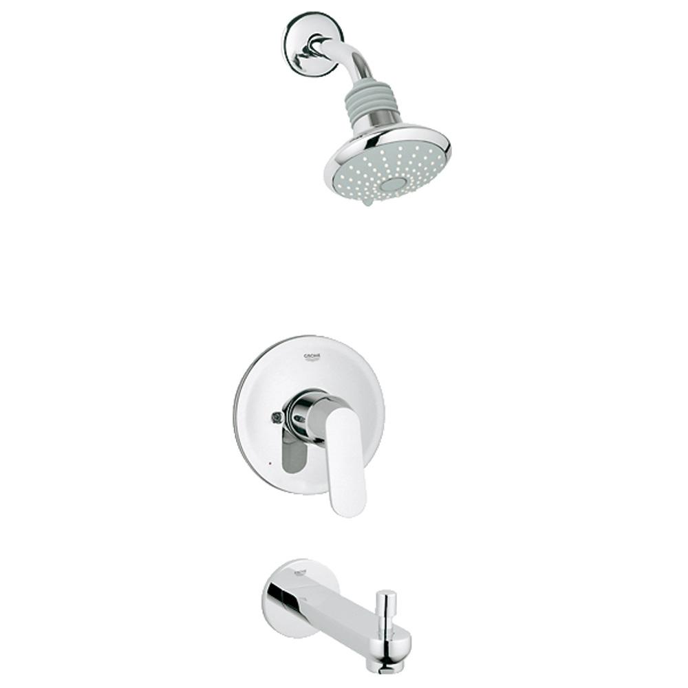Grohe Eurosmart Cosmopolitan Pressure Balance Valve Bath Combination Starlight Chrome Free