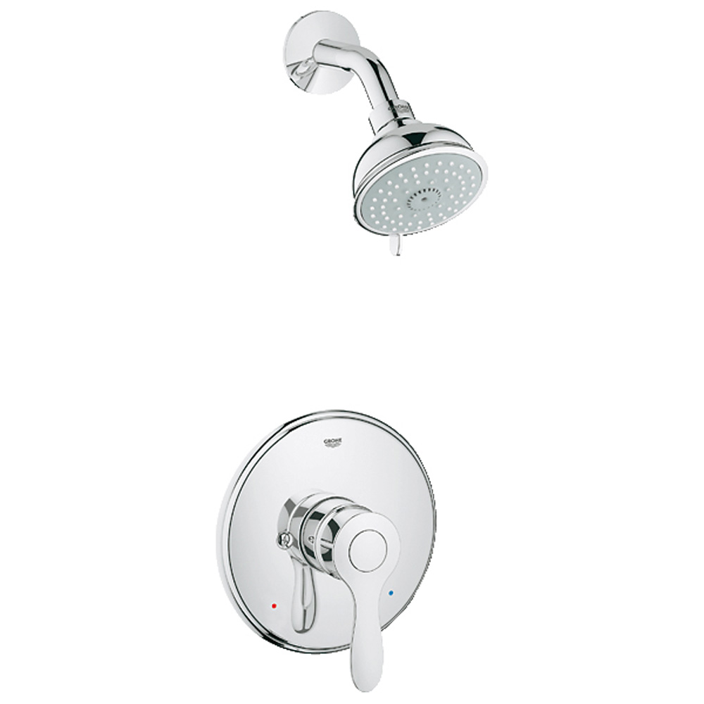 Grohe Parkfield Pressure Balance Valve Shower Combination, Starlight Chrome GRO 35039000 by GROHE