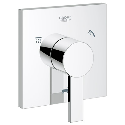 grohe allure 5 port diverter trim starlight chrome free shipping modern bathroom. Black Bedroom Furniture Sets. Home Design Ideas