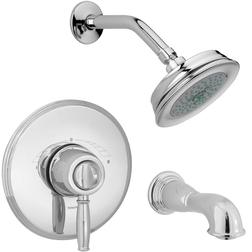 Hansgrohe c world thermobalance ii lever handle shower set free shipping modern bathroom - Hansgrohe shower handle ...