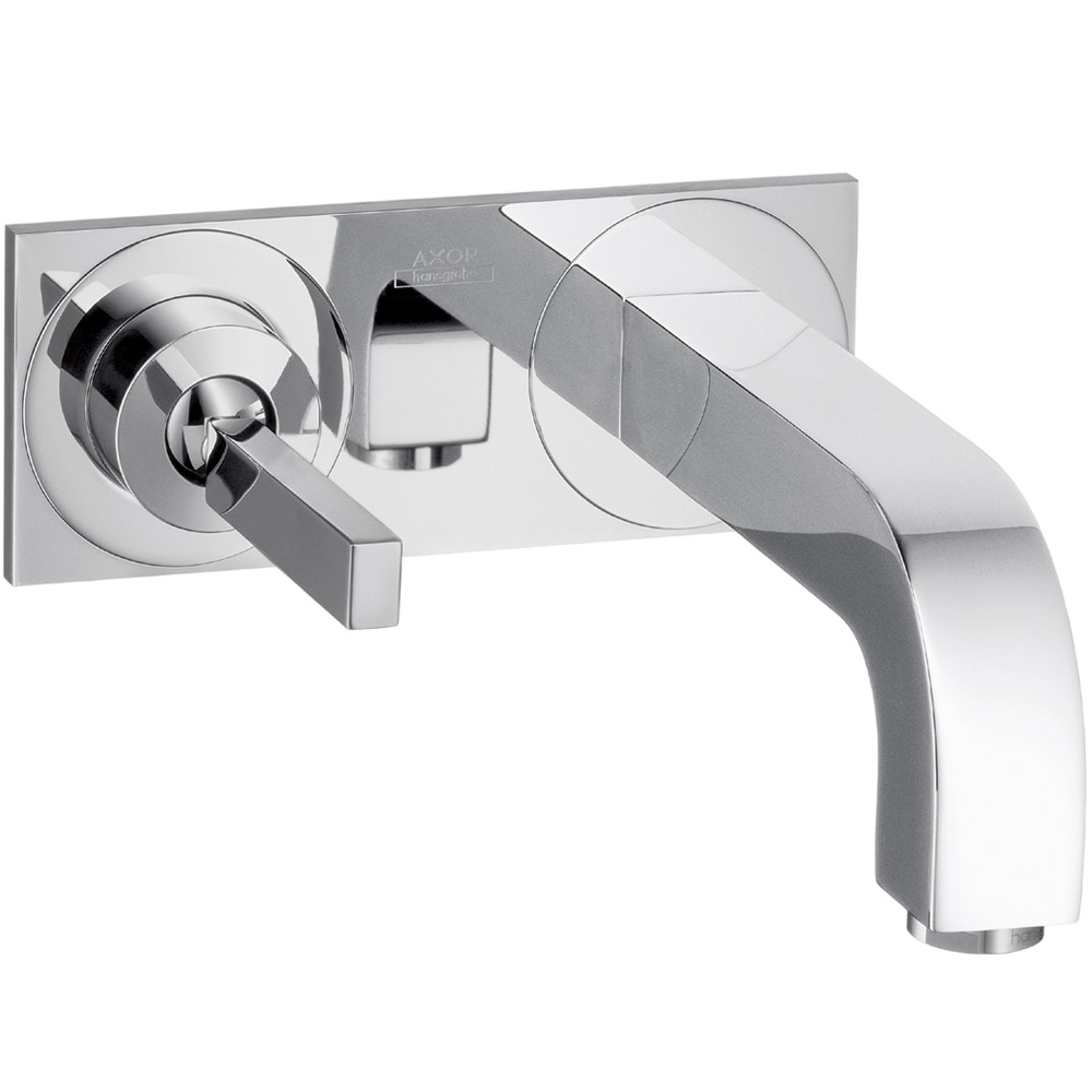 Hansgrohe Axor 174 Citterio Wall Mounted Single Handle Faucet Set W Base Plate Free Shipping