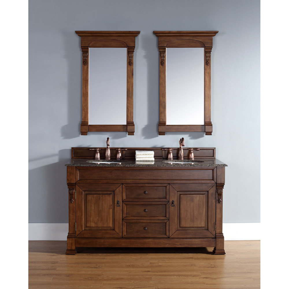 James Martin 60 Quot Brookfield Double Vanity Country Oak