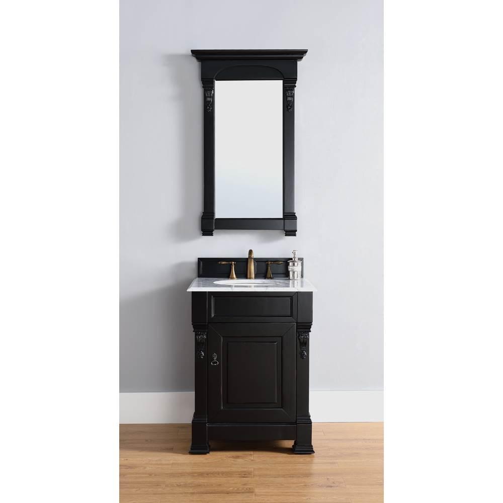 James Martin 26 Brookfield Single Cabinet Vanity Antique Black Free Shipping Modern Bathroom