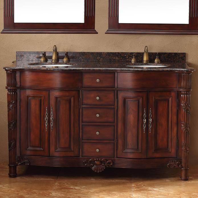 James Martin 60 Tuscany Double Granite, Tuscan Bathroom Vanity