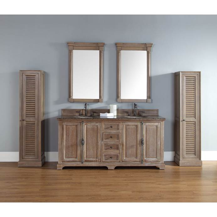 "James Martin 72"" Providence Double Cabinet Vanity - Driftwood 238-105-5711"