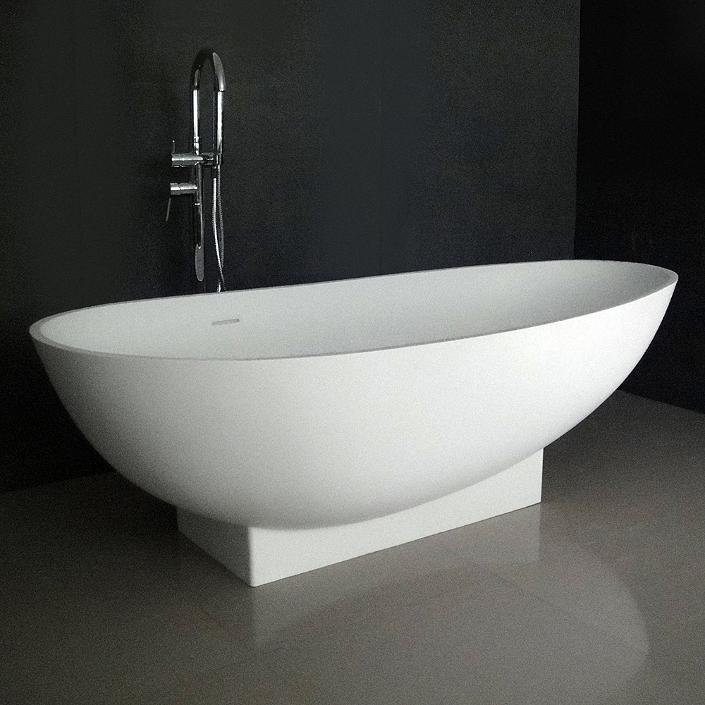 "Ruth 71"" Soaking Bathtub With Integrated Pedestal"