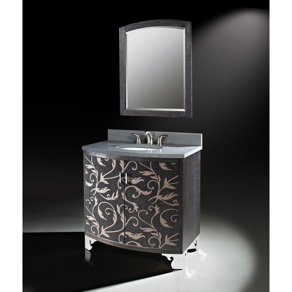 Luxe Clarendon 36 Quot Single Bathroom Vanity Marquetry Low