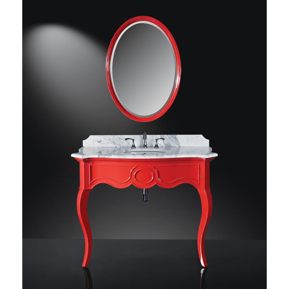 Luxe Sonnet 45 Single Bathroom Vanity High Gloss Red Free Shipping Modern Bathroom