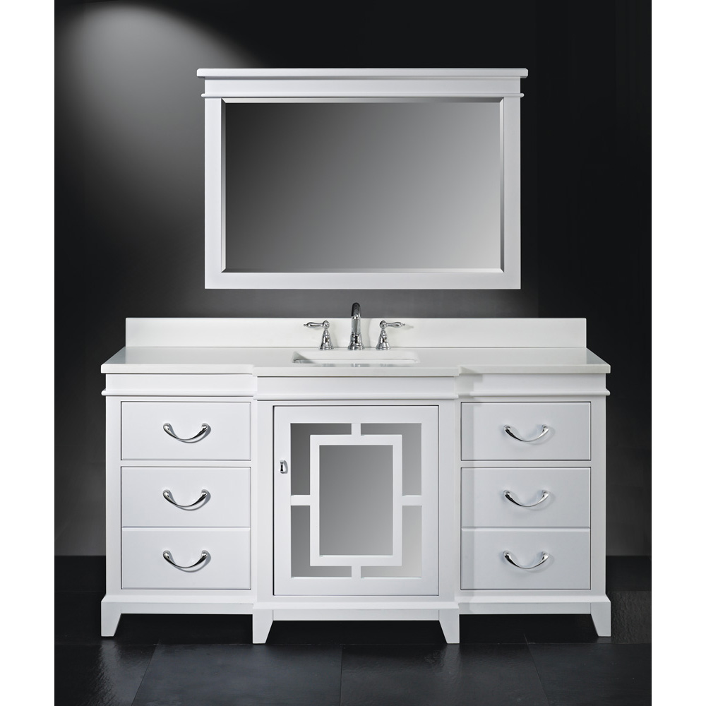 Luxe wallingford 66 single bathroom vanity high gloss white free shipping modern bathroom for 66 inch bathroom vanity cabinets