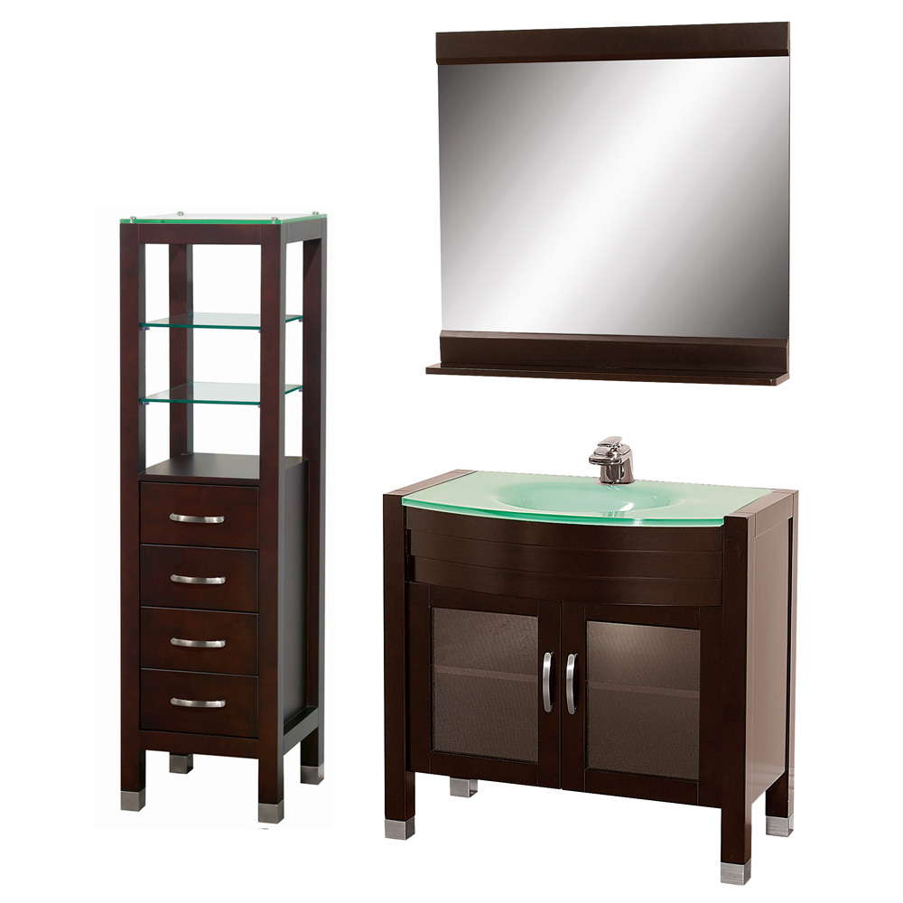 Daytona 36 bathroom vanity set espresso free shipping modern bathroom - Kona modern bathroom vanity set ...
