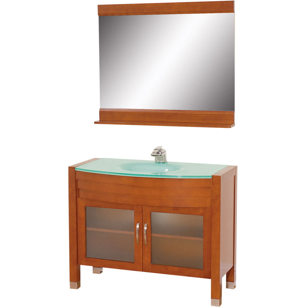 cherry bathroom mirror daytona 42 quot bathroom vanity with mirror cherry free 12308