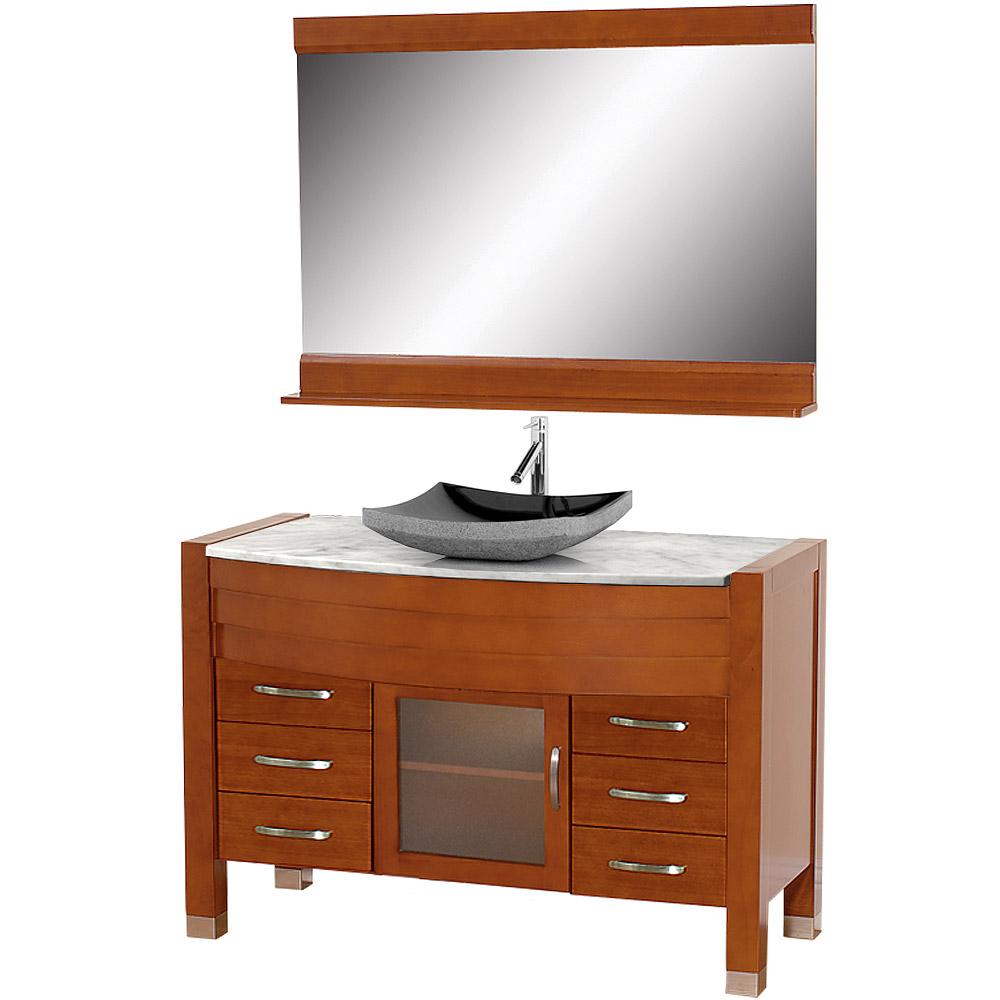 Daytona 55 bathroom vanity with mirror cherry finish free shipping modern bathroom - Linden modern bathroom vanity set ...