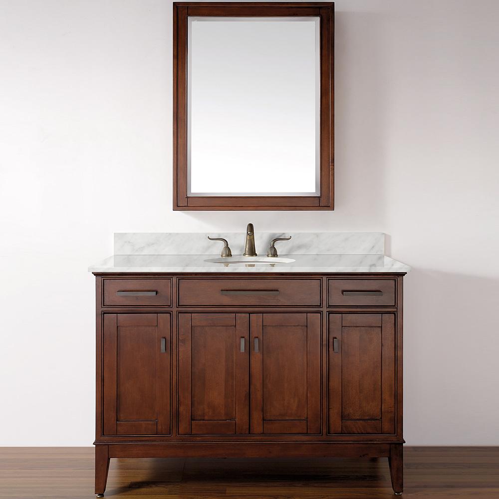 Avanity Madison 48 Quot Single Bathroom Vanity Tobacco