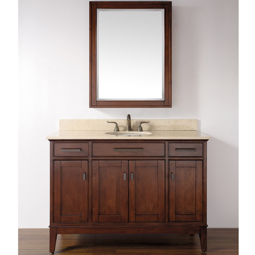Avanity Madison 48 Quot Single Bathroom Vanity Tobacco